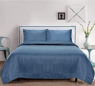 Linenwalas Bamboo Sheets Split King (2 Pcs Extra Long Twin Sheets) - Softest and Thermal Regulating Sheets - Bed Sheet Set - 100% Natural Bamboo (Split King, Bahamas Blue)