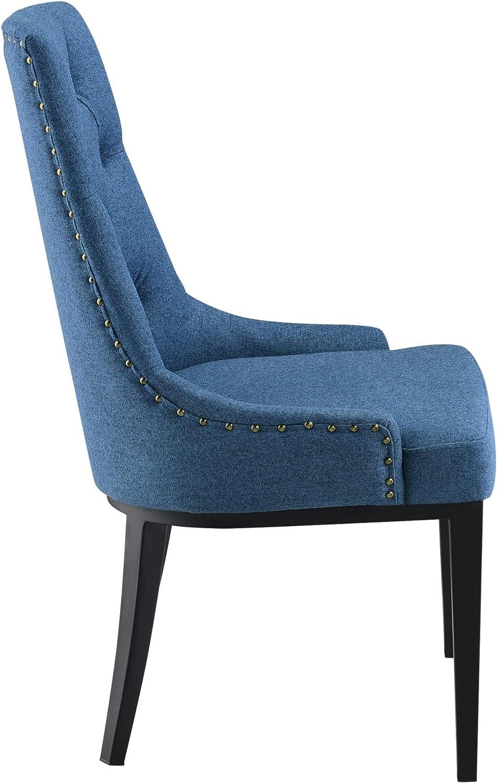 Chaise de Salle à Manger Stylée avec Motif Chesterfield Siège Design Pieds Robustes en Métal Rembourrage Textile 100 x 53 x 60 cm Gris Clair Bleu Foncé
