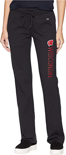 Wisconsin Badgers University Fleece Open Bottom Pants