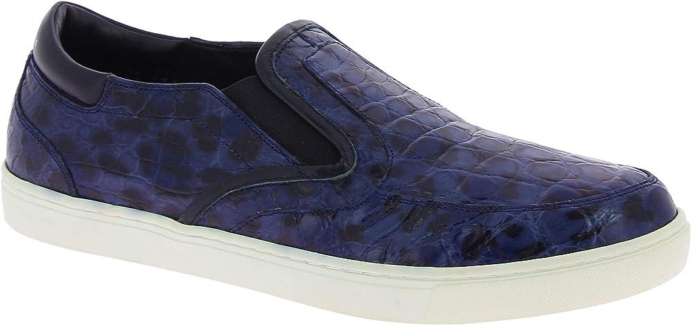 Dolce&gabbana sneakers slip-on da uomo pelle di coccodrillo CS1310 A2728 89853