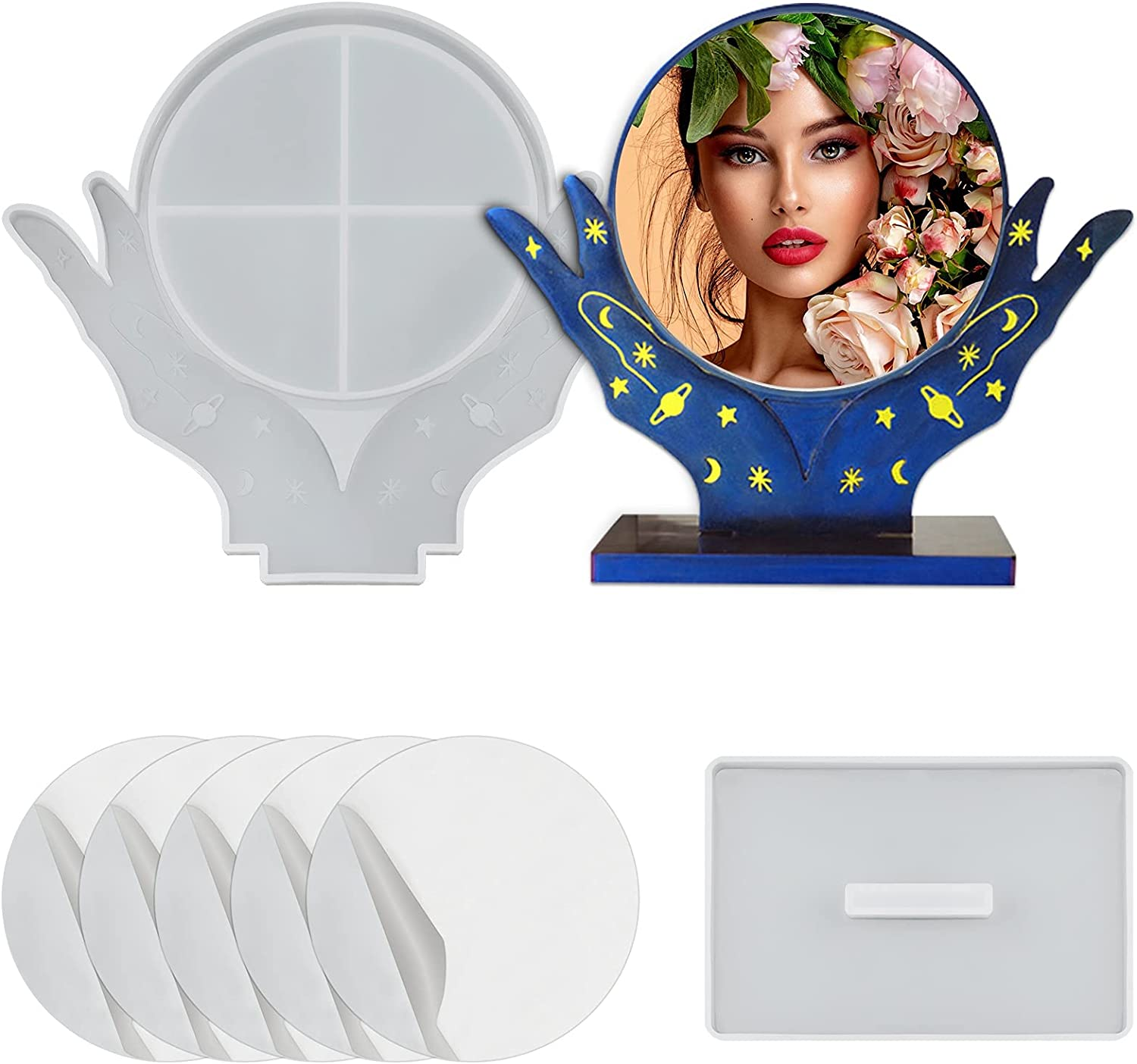 Photo Frame Resin Mold,Silicone Epoxy Makeup Cheap mail order specialty store Mirror Casting Cash special price