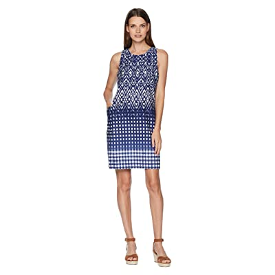 Tommy Bahama Isla De Ikat Shift Dress (Ocean Deep) Women