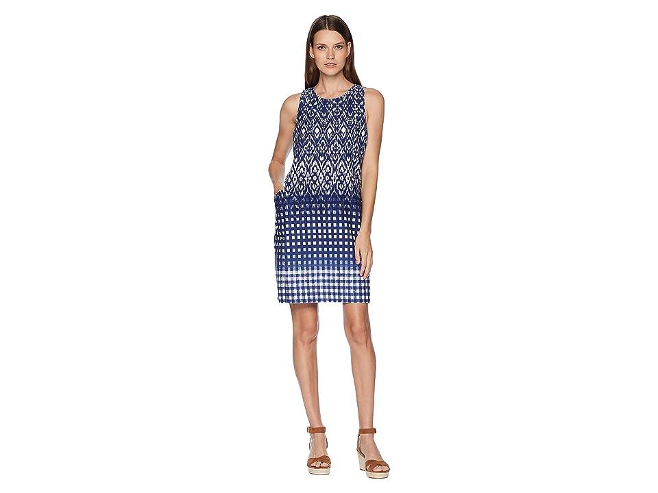 Tommy Bahama Isla De Ikat Shift Dress (Ocean Deep) Women