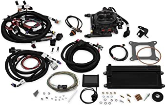 NEW HOLLEY TERMINATOR LS TBI KIT THROTTLE BODY FUEL INJECTION SYSTEM W/TRANSMISSION CONTROL,HARD CORE GRAY,950 CFM,RANGE 600 HP,COMPATIBLE WITH GM LS2/LS3 TRUCK ENGINES W/ 58X CRANK RELUCTOR