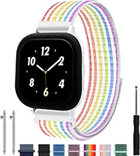 Replacement Kids Band for Gizmo Watch, Breathable Hook Loop Nylon Strap Watch Band with Quick Release Pins Compatible with...
