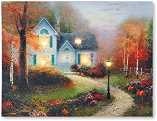 fall lighted canvas
