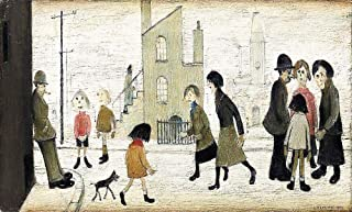 Handpainted Reproduction L. S. Lowry 120X70 cm (Approx. 48X28 inch) - Street Scene I Figure Paintings Canvas Wall Art Matchstick Men Marionette Poster Rolled