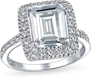 5 carat emerald cut engagement rings