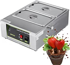 VEVOR 1000W Electric Chocolate Melting Pot Machine Double Tanks 17.6lbs Capacity Commercial Home Electric Chocolate Heater Double Boiler Digital Control Two Pan Electric Chocolate Melter(2 Tanks)