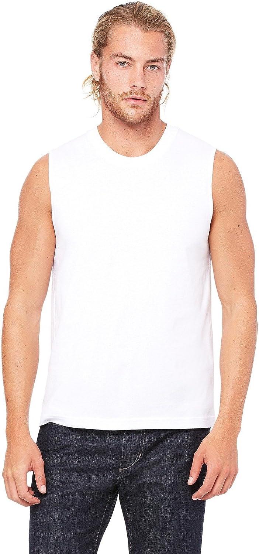 Bella Canvas Unisex Jersey Muscle Tank - White - S - (Style # 3483 - Original Label)