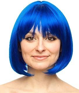 blue coraline wig