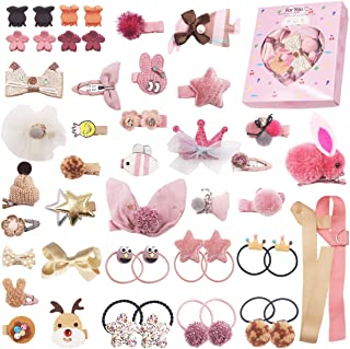 Baby Girls Hair Accessories Cute Hair Bows Clips Elastic Hair Ties for Toddlers