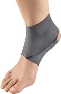 Champion Ankle Brace, Figure 8 Straps, Adjustable Support, Airmesh Fabric, Grey, Large