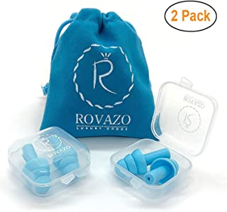 Reusable Silicone Ear Plugs – 2 Pairs – NRR 32, Waterproof, Hypoallergenic..