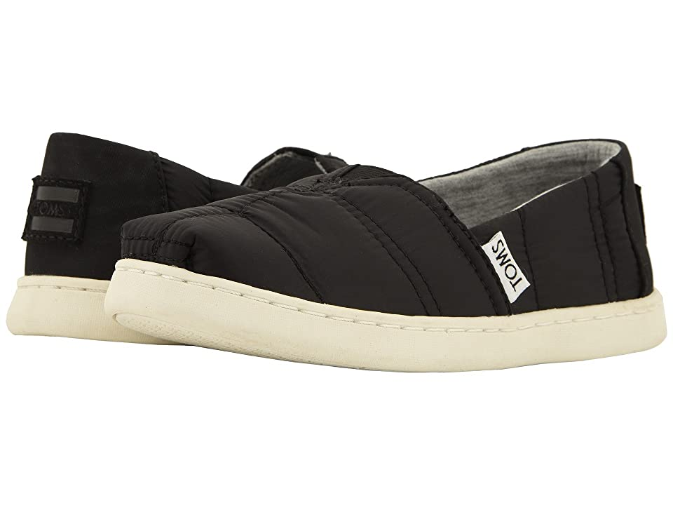 TOMS Kids Alpargata (Little Kid/Big Kid) (Black Quilted) Kid