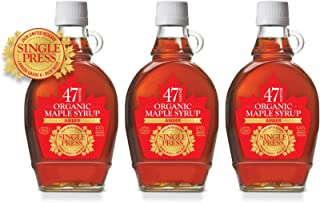 47 North Canadian Single Source Organic Maple Syrup, Grade A, Golden, 3x250g LIMITED EDITION