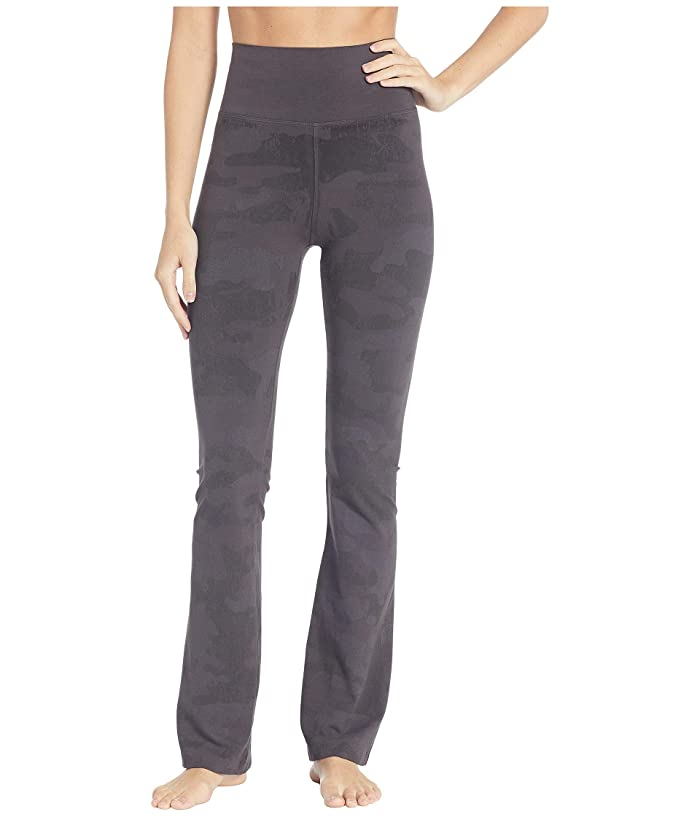 Hard Tail Rolldown Bootleg Flare Pants (Raven) Women