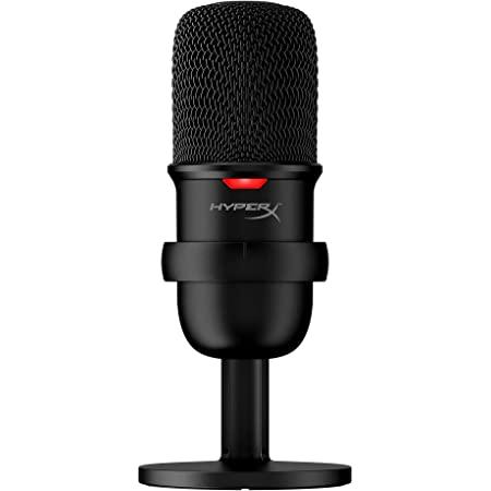 HyperX SoloCast – Micrófono de Condensador USB para Juegos, para PC, PS4 y Mac, Sensor de silenciamiento con un Toque, patrón Polar cardioide, Juegos, Streaming, podcasts, Twitch, Youtube, Discord