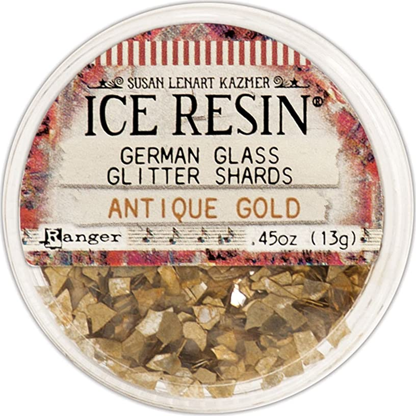 ICE Resin? Glass Glitter Shards - Antique Gold