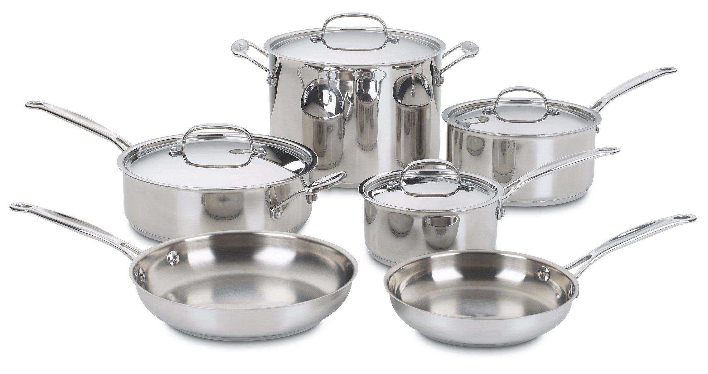 Cuisinart 77 10 Stainless 10 Piece Cookware