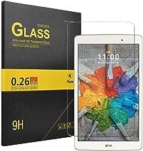 LG G PAD X 8.0 Screen protector, KuGi ® LG G PAD X 8.0 –High Quality 9H Hardness HD clear Tempered Glass Screen Protector for LG G PAD X 8.0 tablet. (1pcs)