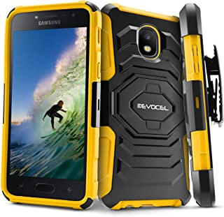 Evocel New Generation Series Compatible with Galaxy J3 2018/ J3 V 3rd/ Express Prime 3/ J3 Achieve/ J3 Star/Amp Prime 3 Belt Clip Holster Case, Kickstand, Dual Layer, Yellow