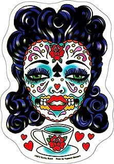 Sunny Buick - Tea Sugar Skull Lady - Sticker / Decal