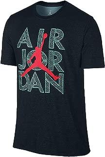 Men's AJ Stencil Dri-FIT T-Shirt XX-Large Black Hyper Turquoise Infrared