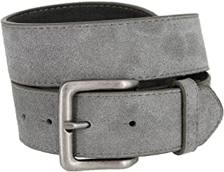 Square Buckle Casual Jean Suede Leather Belt 1 1/2