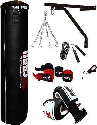 MADX Power Tuch//sand Ungef/üllter Boxsack Crossfit Boxen MMA Training Fitness schwarz//grau