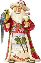 "Enesco Jim Shore Heartwood Creek Margaritaville Santa with Parrot Stone Resin, 6.75"" Figurine"