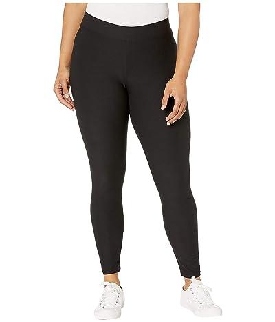 HUE Lightweight Knit Leggings (Black) Women