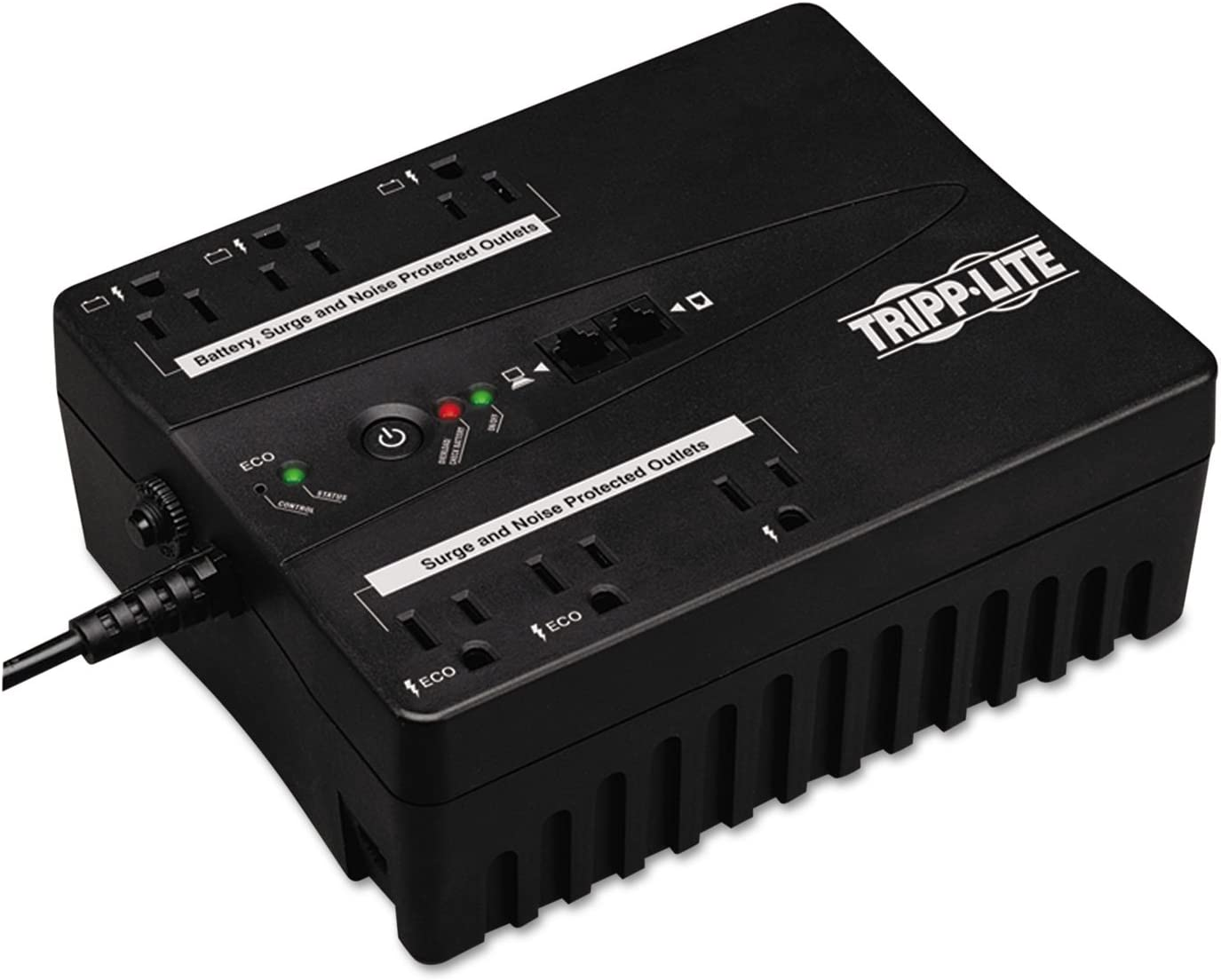 TRIPP LITE ECO350UPS Green Standby UPS System (Output Power Capacity: 350VA/180W 6 outlets3 UPS/Sur