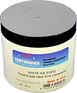 White Ice 510FG: Food Grade NSF H1 Approved Thermally Conductive Heat Sink Paste. Major Application Includes Thermo Wells, RTD thermistors and thermocouple sensors. 8oz Jar