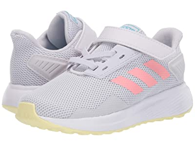 adidas Kids Duramo 9 (Infant/Toddler) (Dash Grey/Glory Pink/Yellow Tint) Girls Shoes