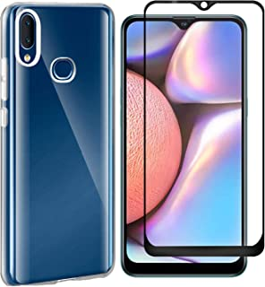 MYLBOO Compatible with for Samsung Galaxy A10S Case Galaxy A10S Screen Protector,2 in 1 Transparent Soft TPU Phone Case + 9H Tempered Glass Full Screen Protector for Galaxy A10S (Transparent)