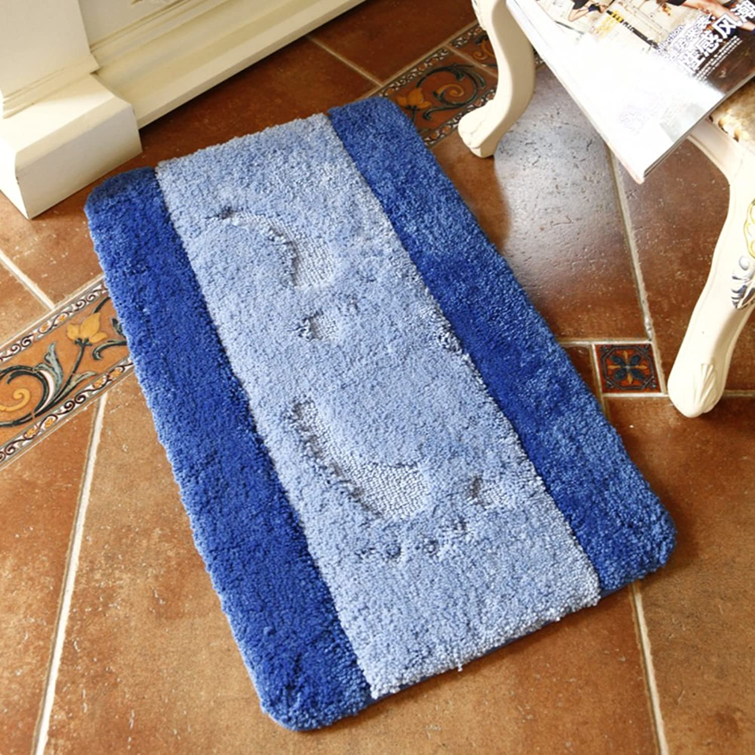 Living Room Indoor mats doormats European Household mats Bedroom Blanket for Bedroom Bathroom Water-Absorbing Non-sliping mats-D 80x120cm(31x47inch)