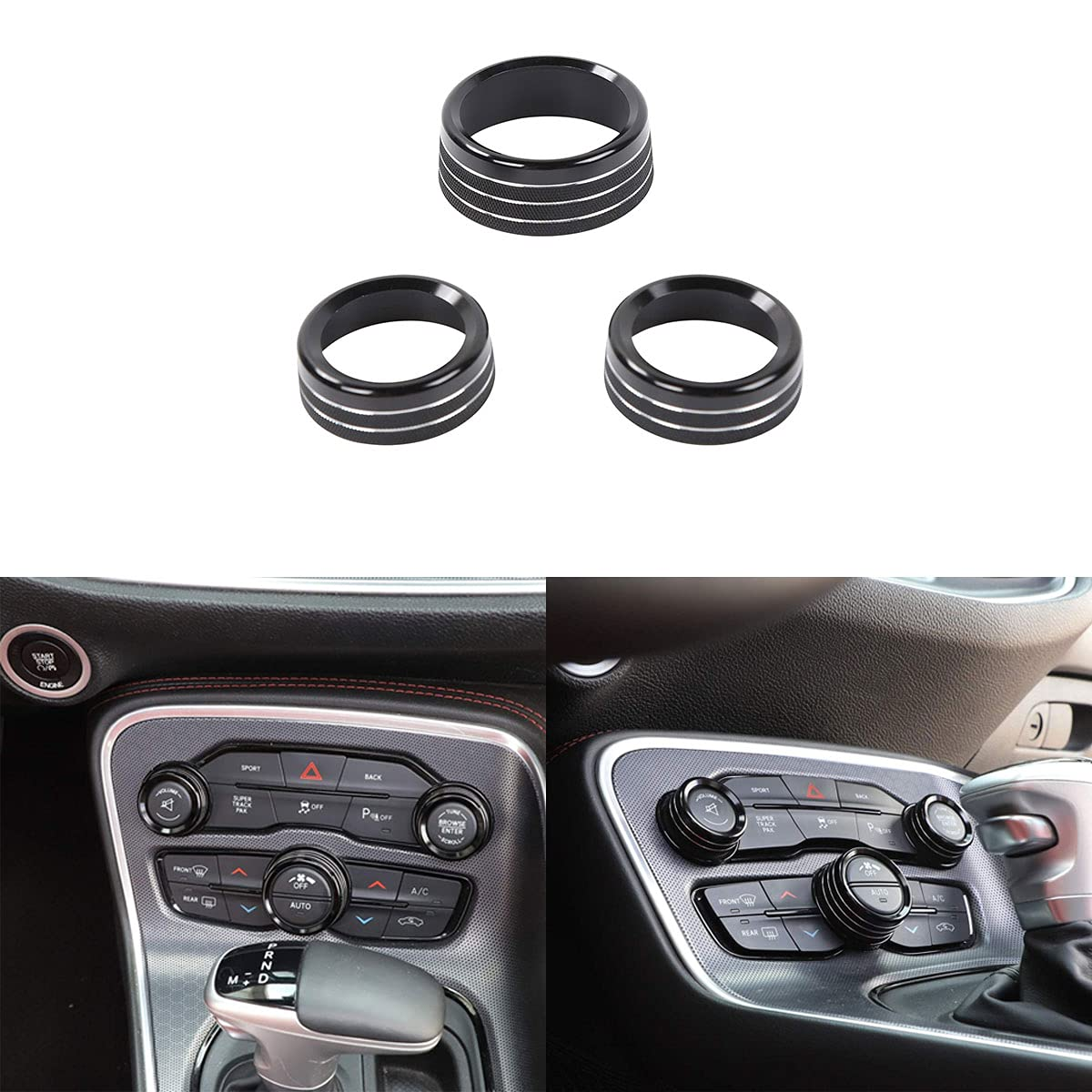 Modified air Conditioning Audio knob Ring Alloy Aluminum SEAL Max 66% OFF limited product Decora