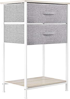 YITAHOME Storage Tower Unit with 2 Drawers - Fabric Dresser, Organizer Unit for Bedroom, Living Room, Hallway & Closets -