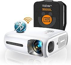 YABER Pro V7 9500L 5G WiFi Bluetooth Projector, Auto 6D Keystone Correction &4P/4D, Infinity Zoom, HD Portable Movie Proje...