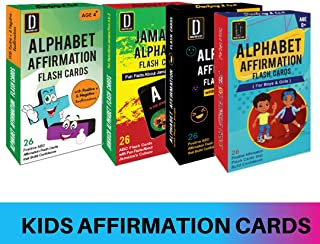 Darlyng & Co.'s Modern Alphabet Affirmation Flash Cards for Kids ABC Flash Cards (4 Deck Special)