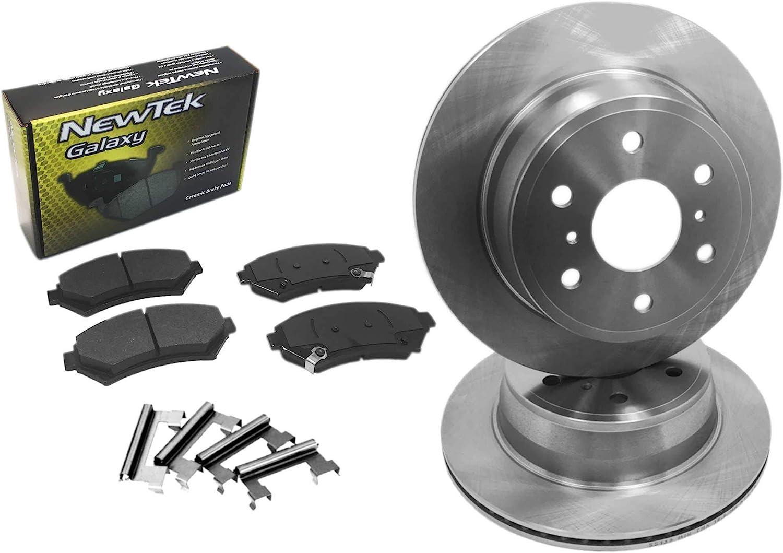 DK1356-1 Rear Brake Rotors ハイクオリティ and Kit Ceramic Pads ブランド買うならブランドオフ Hardware Set