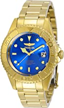 Invicta Men's Pro Diver Quartz Watch with Stainless Steel Strap, Gold, 18 (Model: 29940)