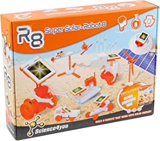 Science4you-R8 Years R8 Super Solar Robot-Robotic, Scientific Toy, 8 Experiments and Educational Book ES, EN and PT-Origin...
