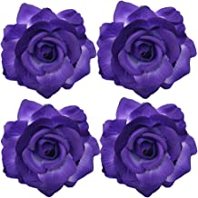 La Homein Sanrich 4pcs/Pack Fabric Rose Hair Flowers Clips Mexican Hair Flowers Hairpin Brooch Headpieces