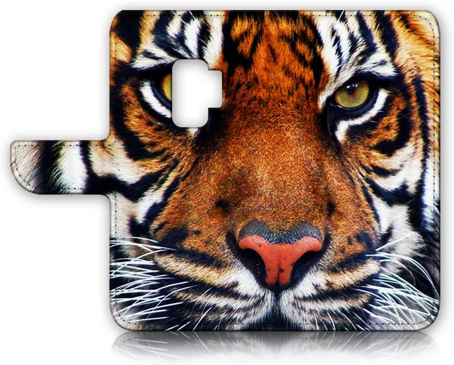 (for Samsung Galaxy S9) Flip Wallet Case Cover & Screen Protector Bundle - A20015 Tiger