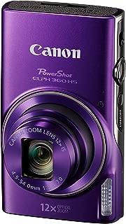 Canon PowerShot ELPH 360 Digital Camera w/12x Optical Zoom Image Stabilization - Wi-Fi & NFC Enabled (Purple)