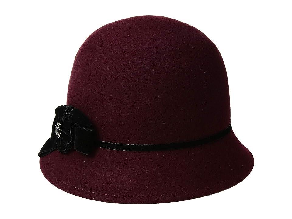 1920s Style Hats Betmar Noelle Cranberry Caps $55.00 AT vintagedancer.com