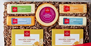 Hickory Farms Cheese Holiday Gift Box Jalapeno Cheddar Gouda Farmhouse Cheese Set