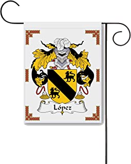 Carpe Diem Designs Lopez Coat of Arms/Lopez Family Crest 11 X 15 Garden Flag – Made in The U.S.A.
